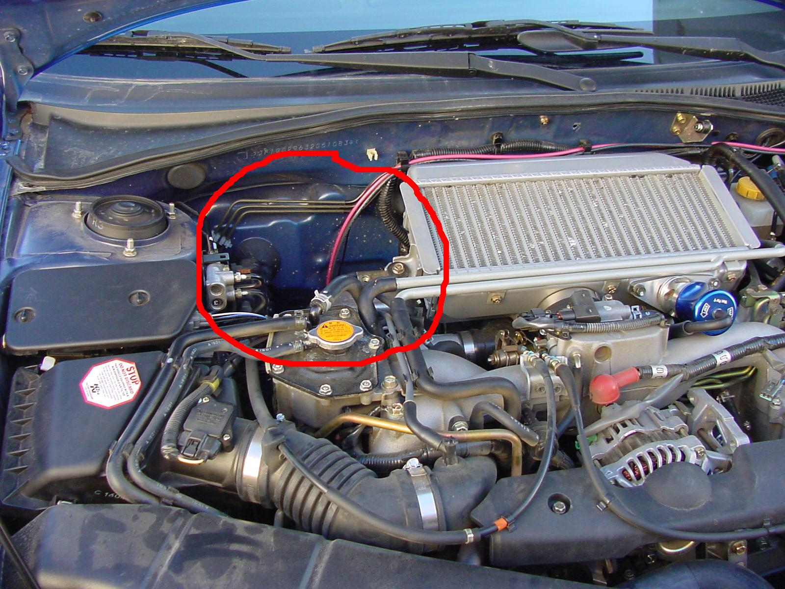 2002 Subaru Impreza Engine - As You Can See Ive Circled The Area Where You Should Investigate To Find The Tap Point For The Probe In The Following Image Ive Got A Closer Look At - 2002 Subaru Impreza Engine